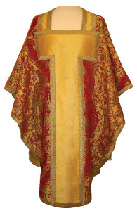 Chasuble jaune-or